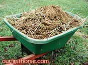 Horse manure by the ton